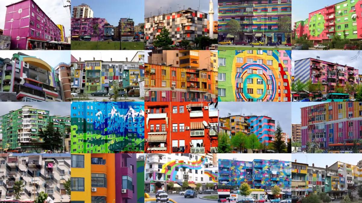 Tirana's Colorful Facade