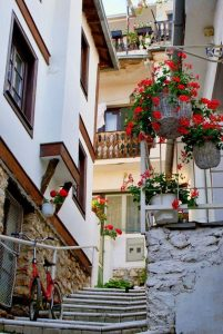 Ohrid Old City Scene