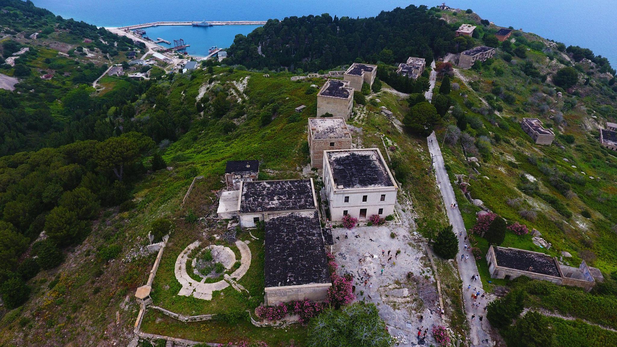 abandoned military base of Sazan ALBANIA